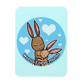 Worlds best Mum Bunny Magnet