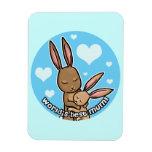 Worlds best Mum Bunny Magnets