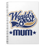 Worlds Best Mum Gift Notebook