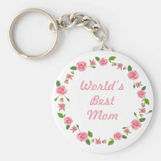 Worlds Best mum mothers day gift Keychain