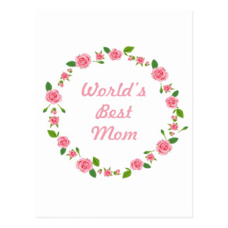 Worlds Best mum mothers day gift Postcard
