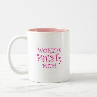 Worlds Best Mum Mug. Two-Tone Coffee Mug