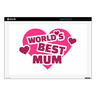 "World's best Mum 17"" Laptop Decal"