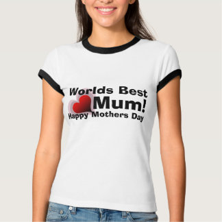 Worlds Best Mum t-shirt for Mother Day