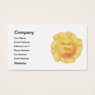 World's Best Mum (yellow flower) Business Card