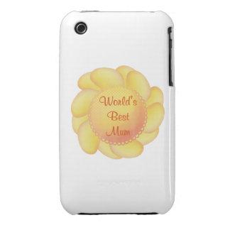 World's Best Mum (yellow flower) iPhone 3 Cover