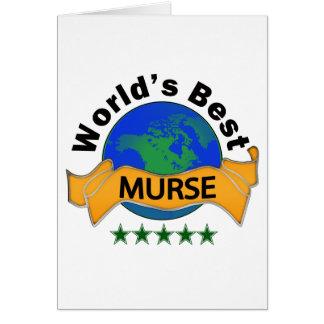 World's Best Murse Card