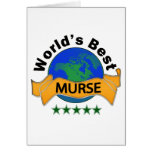 World's Best Murse Greeting Cards