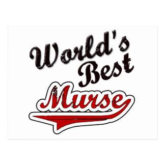 World's Best Murse Postcard