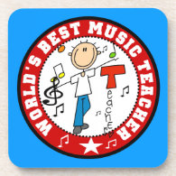 World's Best Music Teacher Beverage Coasters