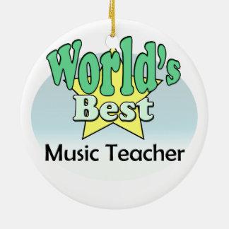 World's best Music Teacher Ceramic Ornament