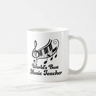 Worlds Best Music Teacher Gift Coffee Mug