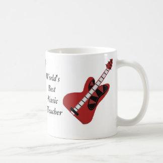 World's Best Music Teacher Classic White Coffee Mug