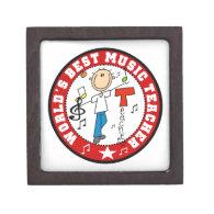 World's Best Music Teacher Premium Jewelry Boxes