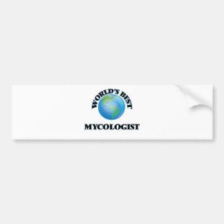World's Best Mycologist Car Bumper Sticker