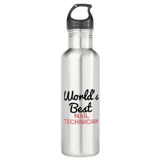 World's best Nail Technician Stainless Steel Water Bottle