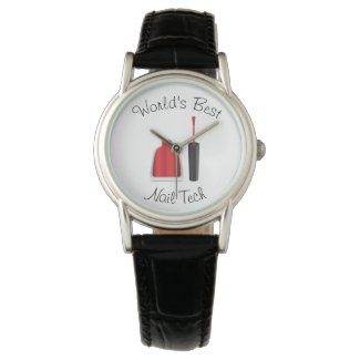 World's best nail technician wristwatch