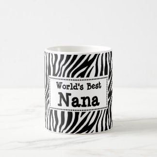 World's Best Nana Mug -  Zebra Print Style