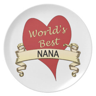 World's Best Nana Plate