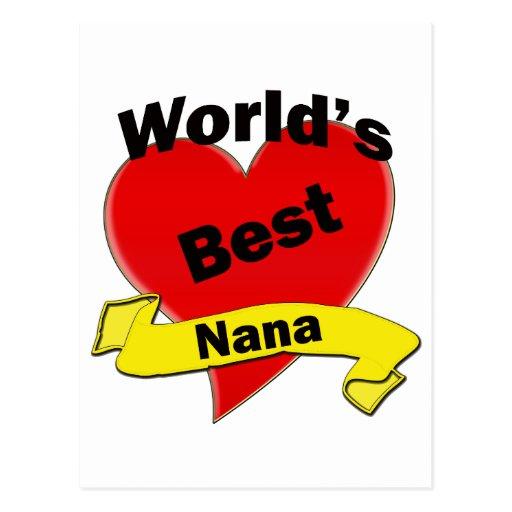 World's Best Nana Postcards