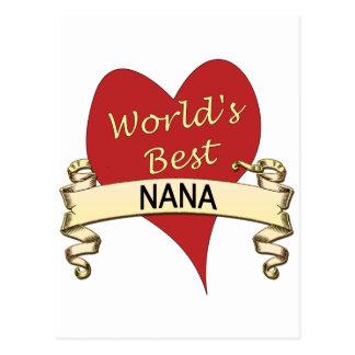 World's Best Nana Postcard