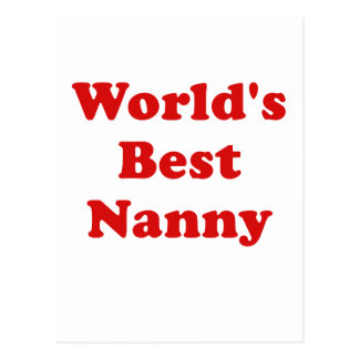 Worlds Best Nanny Postcard