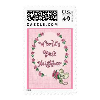 World's Best Neighbor Stamp