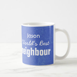 World's Best NEIGHBOUR Blue Custom Name JASON Coffee Mug