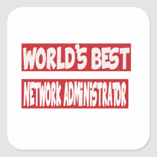 World's Best Network Administrator. Square Stickers