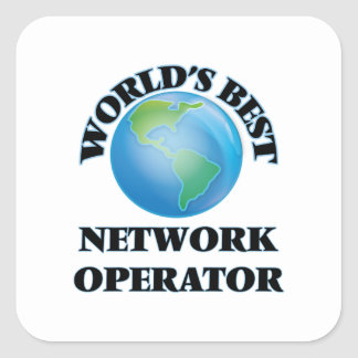 World's Best Network Operator Square Stickers