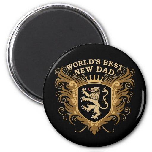 World's Best New Dad 2 Inch Round Magnet