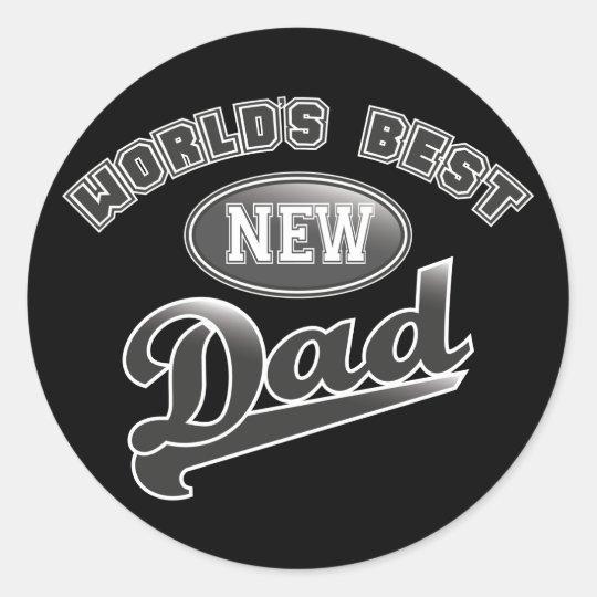World's Best New Dad Classic Round Sticker