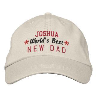 World's Best NEW DAD Custom Name V03 Cap