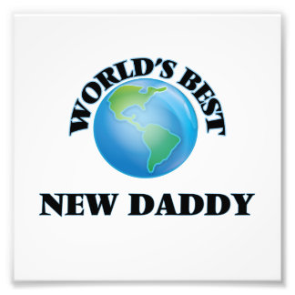 World's Best New Daddy Photo Print