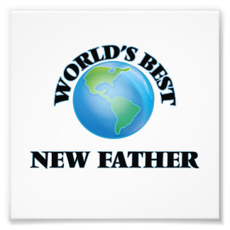 World's Best New Father Photo Print