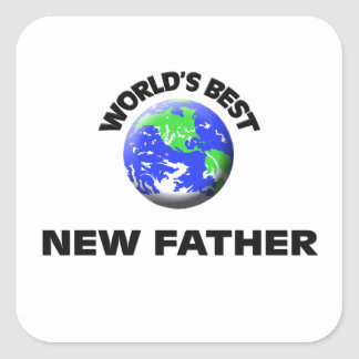 World's Best New Father Square Sticker