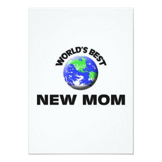 World's Best New Mom 5x7 Paper Invitation Card