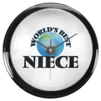 World's Best Niece Aquarium Clocks