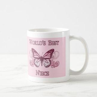 World's Best Niece (Butterfly) Classic White Coffee Mug