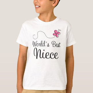 Worlds Best Niece Cute Girls T-shirt