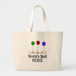 World's Best Niece Large Tote Bag