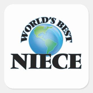 World's Best Niece Square Sticker