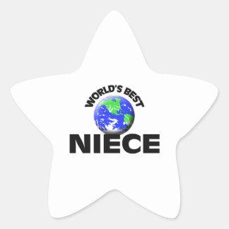 World's Best Niece Star Sticker
