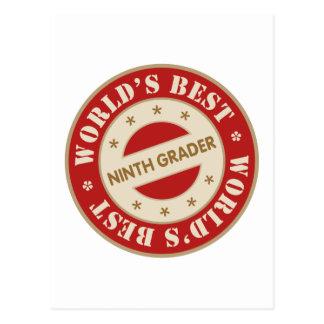 Worlds Best Ninth Grader Postcard