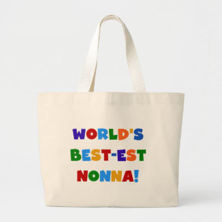 World's Best Nonna Bright Colors T-shirts and Gift Canvas Bag