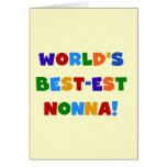 World's Best Nonna Bright Colors T-shirts and Gift Greeting Cards