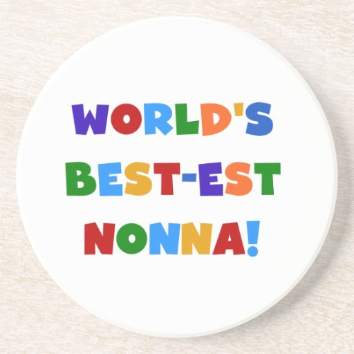 World's Best Nonna Bright Colors T-shirts and Gift Drink Coaster