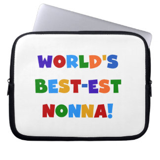 World's Best Nonna Bright Colors T-shirts and Gift Laptop Sleeve
