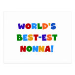 World's Best Nonna Bright Colors T-shirts and Gift Post Cards