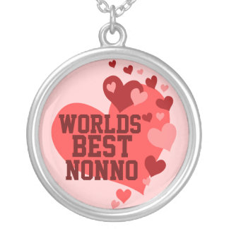 Worlds Best Nonno (or any name) Round Pendant Necklace